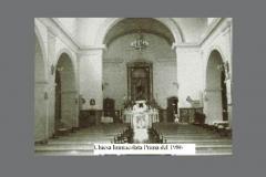 Chiesa dell' Immacolata prima dell'intervento del maestro Leone